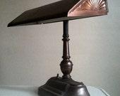 Vintage Brass Desk Lamp.  Home or Office Decor.