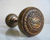 Industrial Chic.  City of Chicago Board of Education Brass Door Knobs.