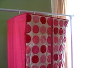 Vintage Hot Pink and Polka Dot Closet Garment Bag With Zipper. No. 1.  Two Available.