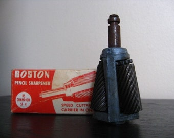 Industrial Chic.  Vintage Boston Pencil Sharpener / Speed Cutter. Replacement Part. KS Champion SF-4.