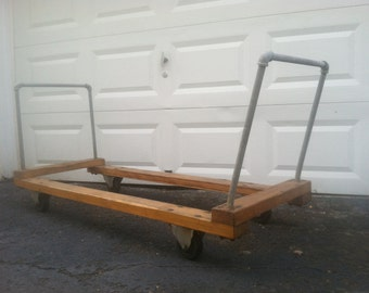 Industrial Chic.  Large Wooden and Metal Cart.