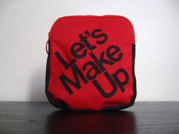 Let's Make Up Vintage Cosmetics Bag.