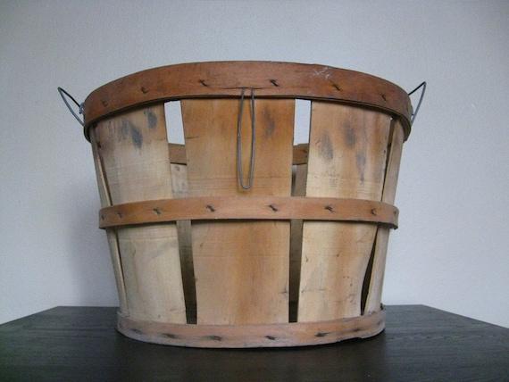 Vintage Fruit or Orchard Basket
