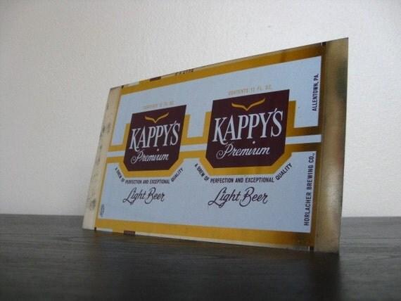 Unused and Uncut Kappy's Beer Sheet.