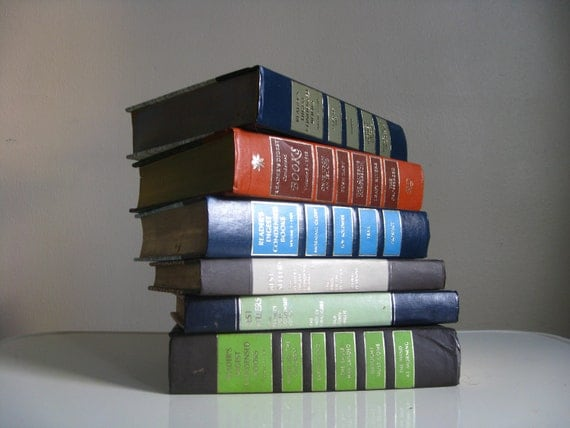 Set of 6 Vintage Reader's Digest Hardcover Books.  Summer Reading.