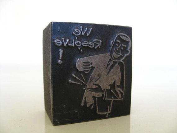 We Resolve Vintage Wooden Letterpress Printer's Block.