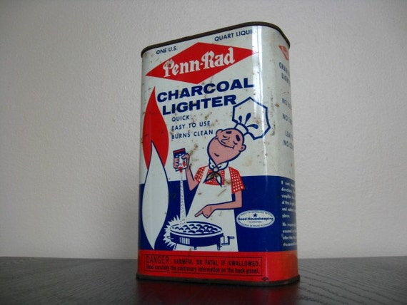 Vintage Lighter Fluid Tin. Great Retro and Americana Graphics. Independence Day. 4th of July