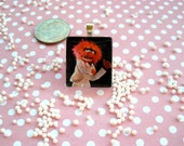 Animal Scrabble Glass Tile Pendant