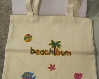 Beach Cotton Canvas Tote Bag