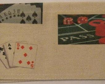 Vegas/Gambling Checkbook Cover