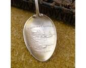 Lachine Rapids Montreal Canada Enameled Sterling Vintage Souvenir Demitasse Spoon