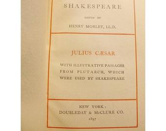 Julius Caesar and Timon of Athens - William Shakespeare - 1897 Edition - Antique Book