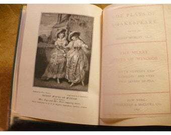 Merry Wives of Windsor and Measure For Measure Book - Antique Book - William Shakespeare - Ca. 1897 Edition