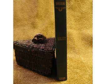 William Shakespeare - King John & Richard III - Antique Book - 1897 Edition - Edited by Henry Morley, LLD - 100 Year Old Hardcover Book