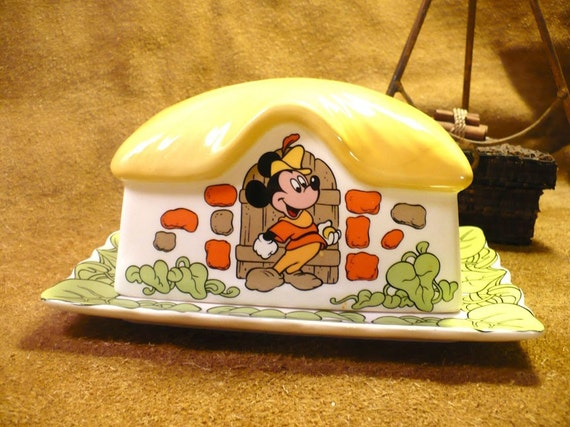 Mickey Mouse Vintage Butter Dish