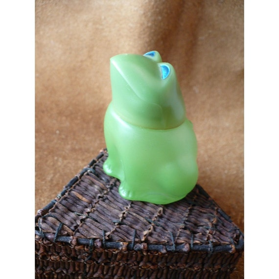 Emerald Prince Avon Frog Cologne Decanter