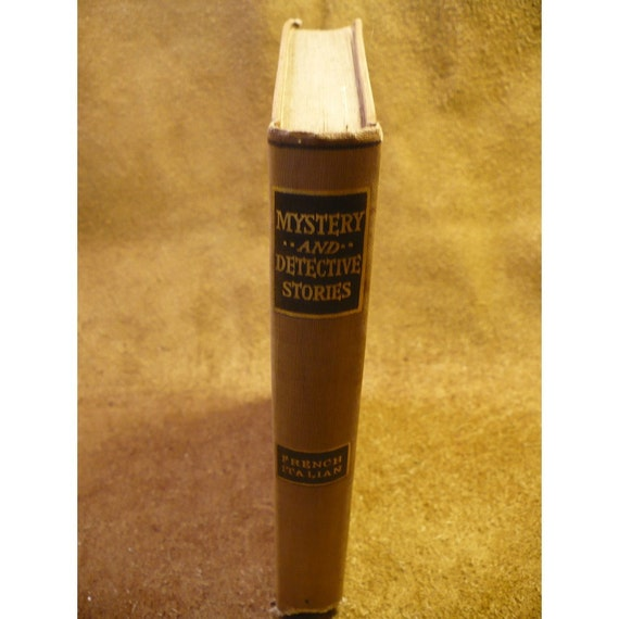French and Italian Edition - Mystery and Detective Stories Hardcover Antique Book  ca. 1908 -  Edited by Julian Hawthorne