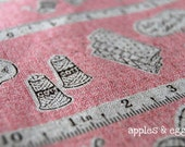 Sewing Time in Pink - Japanese Cotton-Linen Fabric (Fat Quarter)