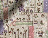The Cute Things in Life - Cotton-Linen Fabric (Fat Quarter)