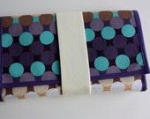 Wrap Wallet: Purple Polka Dots