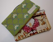 Two Cash Envelopes- Owls and Pinks and Yellows and Greens