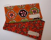 Two Cash Envelopes- Orange and Red Bright Flowers