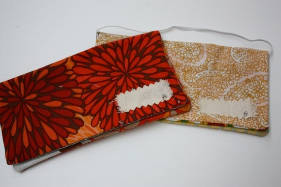 Two Cash Envelopes- Red and Orange Fusion