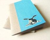 Art journal Notebook turquoise - the black rabbit -