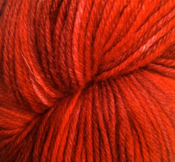 "Wüllenstudio ""Crimson and Clover"" Sock Yarn Mini-Skein"