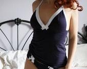 organic cotton lingerie camisole with triangle cups - GARÇON sleepwear range