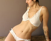 bridal silk bra with underwires - made to order