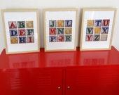 Children's Alphabet Block Trio