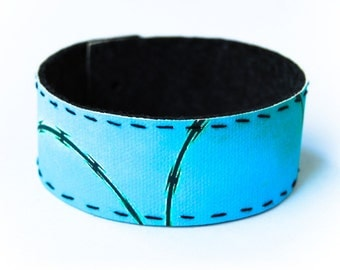 large photo wrist cuff - Barbed Wire Fence