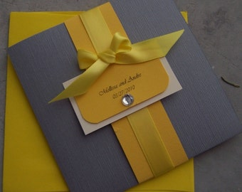 The Bow Pocketfold Invitation Set
