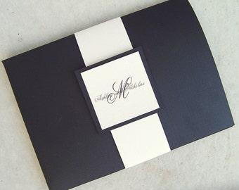 Tuxedo Pocketfold Invitation Set