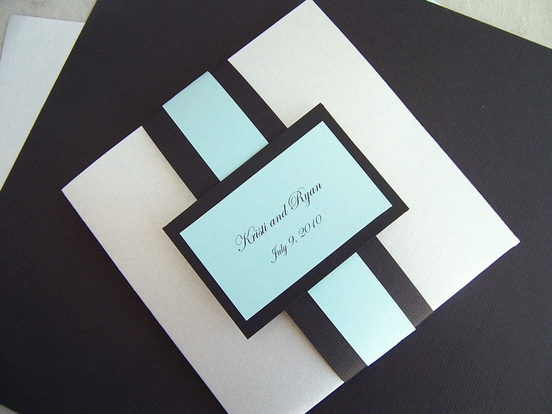 Pocketfold Wedding Invitation Pocket Fold Wedding Invitation
