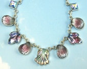 lavender Vintage Necklace Sterling Silver Art Deco Jewelry