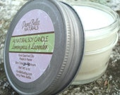 Purabella Naturals Lemongrass and Lavender Essential Oil Soy 4 oz Jar Candle