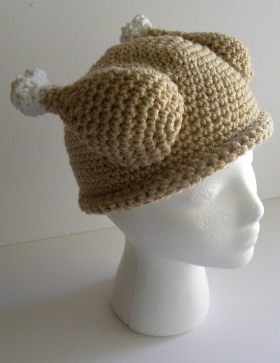 Crochet pattern crocheted turkey dinner hat w permission to sell