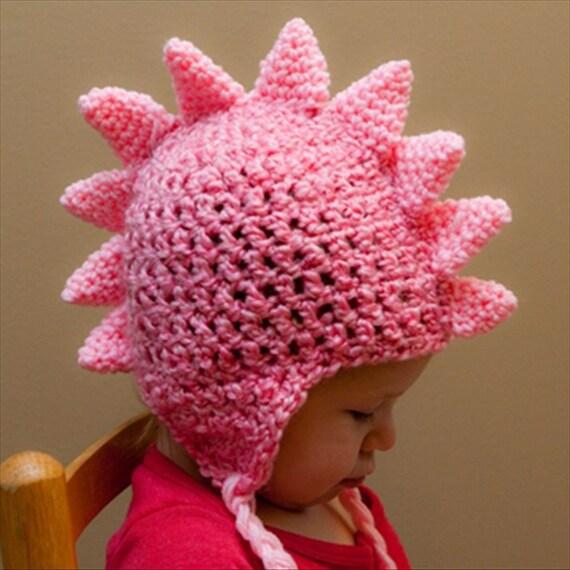 CROCHET PATTERN Dragon Crochet Hat by brookeslittlestitch
