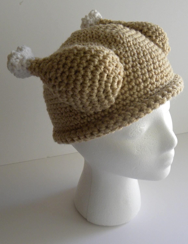 Crochet pattern crocheted turkey dinner hat w permission to