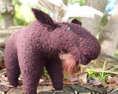 Moose, a felted wool animal toy