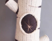 OOAK Birch Bark Tree Branch Pillow