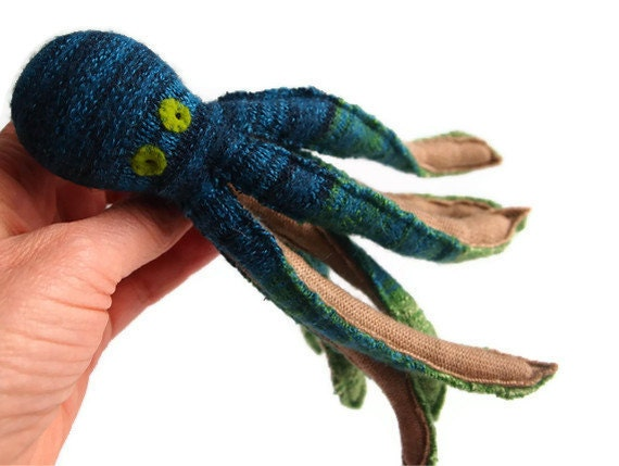 Octopus, waldorf, toy, wool