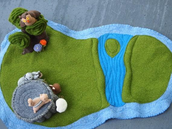 wool waldorf playmat  by EvesLIttleEarthlings