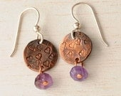copper stamped earring