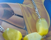 3 Yellow Beads (necklace)