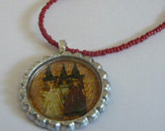 Three little witches Necklace