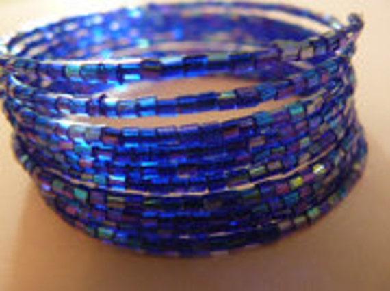 Royal blue memory bracelet