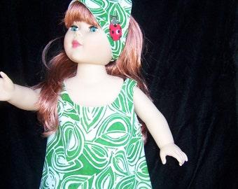 American Girl Dolls Ladybug Jumper with Scarf